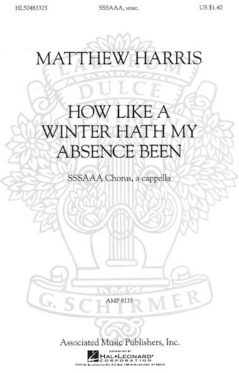 Product Cover for How Like a Winter Hath My Absence Been