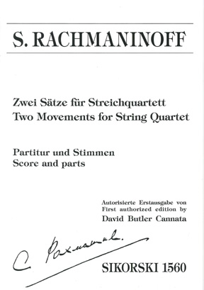 Product Cover for Two Movements for String Quartet