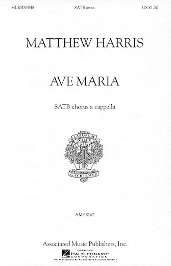 Ave Maria : SATB divisi : Matthew Harris : Sheet Music : 50483848 : 073999838480 : 0634022954
