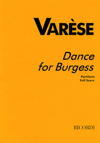 Product Cover for Varèse – Dance for Burgess