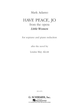 Have Peace, Jo (from the Opera <i>Little Women</i>)