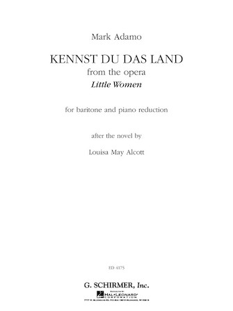 Product Cover for Kennst Du Das Land (from the Opera Little Women)