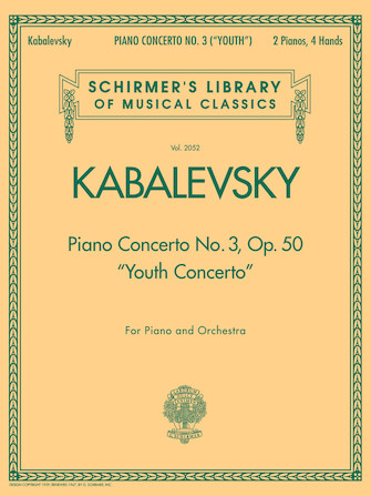"""Product Cover for Piano Concerto No. 3, Op. 50 (""""Youth Concerto"""")"""