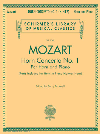 Product Cover for Concerto No. 1, K. 412