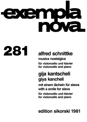 Product Cover for Alfred Schnittke – Musica Nostalgica and Giya Kancheli – With a Smile for Slava