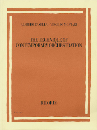 Product Cover for Alfredo Casella/Virgilio Mortari – The Technique of Contemporary Orchestration