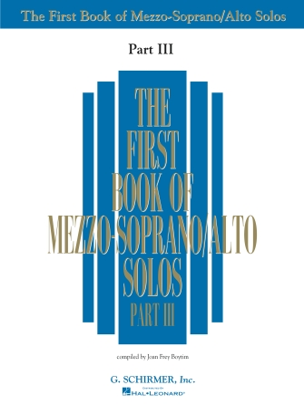 Product Cover for First Book of Mezzo-Soprano Solos – Part III