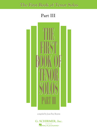 Product Cover for First Book of Tenor Solos – Part III