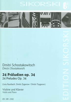 Product Cover for 24 Preludes, Op. 34