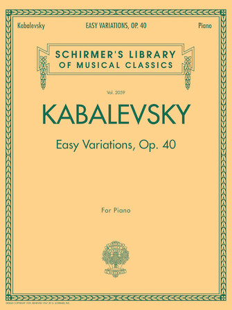Product Cover for Easy Variations, Op. 40