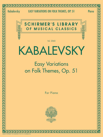 Product Cover for Easy Variations on Folk Themes, Op. 51