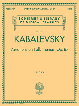 Product Cover for Variations on Folk Themes, Op. 87