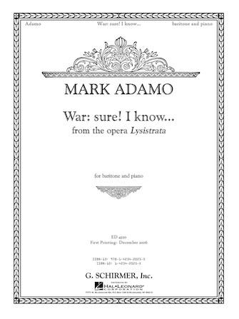 Product Cover for War: Sure. I Know... from the opera Lysistrata