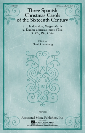 Product Cover for Three Spanish Christmas Carols of the Sixteenth Century