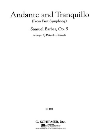 Andante and Tranquillo (from <i>First Symphony</i>)