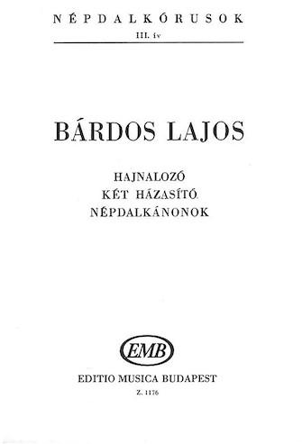 : SATB : Lajos Bardos : Lajos Bardos : Sheet Music : 50487009 : 884088278816