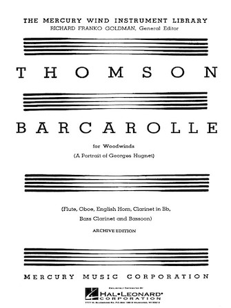 Product Cover for Barcarolle (A Portrait of Georges Hugnet)