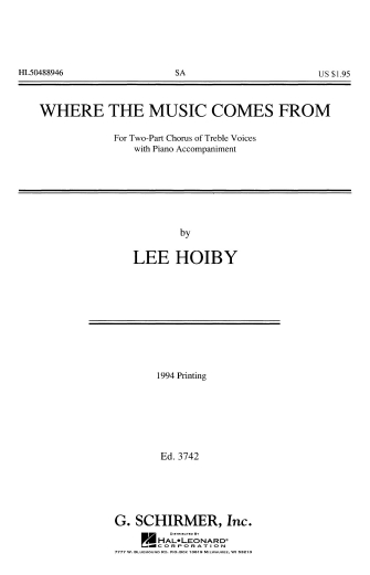 Product Cover for Where Music Comes From