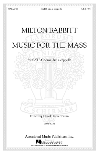 Product Cover for Music for the Mass