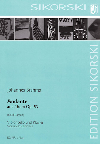 Product Cover for Andante from Op. 83