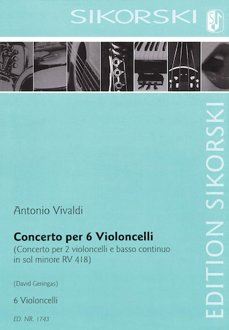Product Cover for Concerto for Six Violoncellos