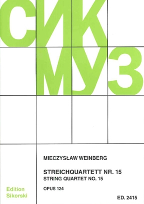 Product Cover for Mieczslaw Weinberg – String Quartet No. 15, Op. 124