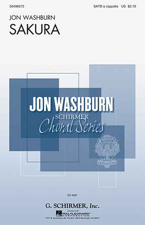 Sakura (Cherry Blossoms) : SATB divisi : Jon Washburn : Sheet Music : 50498573 : 884088792282 : 1476867984