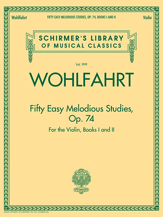 Product Cover for Franz Wohlfahrt – Fifty Easy Melodious Studies for the Violin, Op. 74, Books 1 and 2