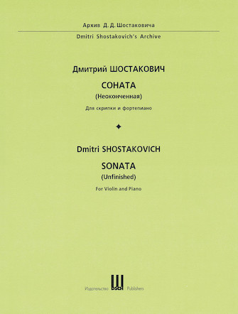 Product Cover for Dmitri Shostakovich – Sonata (Unfinished) First Edition