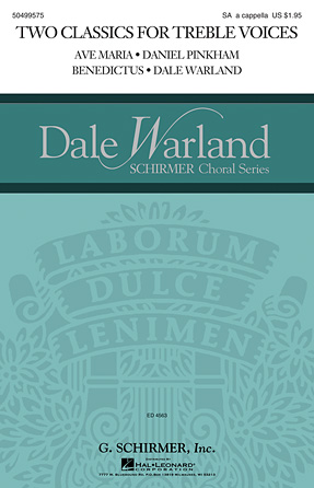Two Classics for Treble Voices : SA : Dale Warland : Dale Warland : Sheet Music : 50499575 : 884088987992 : 1480371262