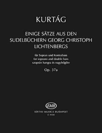 Product Cover for Einige Sätze aus der Sudelbüchern G. Chr. Lichtenbergs, Op. 37a