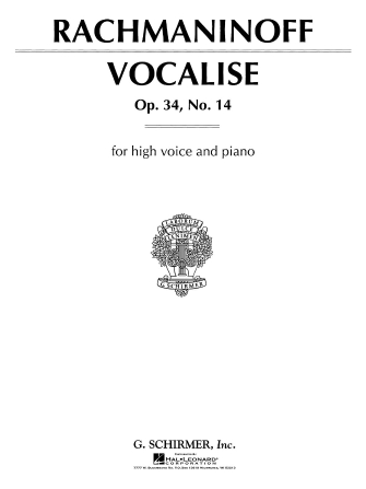 Product Cover for Vocalise Op. 34, No. 14