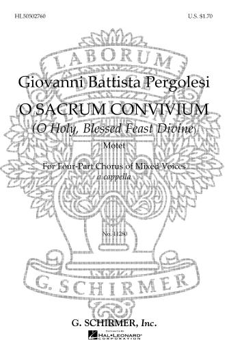 Product Cover for O Sacrum Convivium (O Holy Blessed Feast Divine)