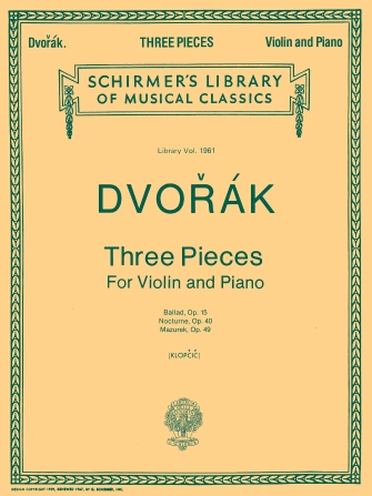 Product Cover for 3 Violin Pieces
