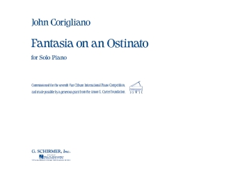 Product Cover for Fantasia on an Ostinato