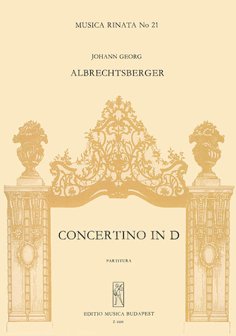 Product Cover for Concertino in D (1769) for Trombula (Flauto), Madora (Chitarra) & Archi