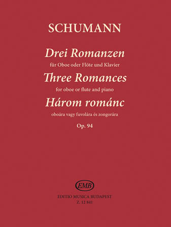 Product Cover for Three Romances, Op. 94 for Oboe (Flute) and Piano