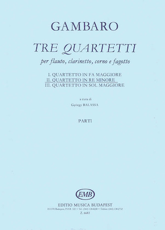 Product Cover for Quartet in D Minor for Flute, Clarinet, Horn, Bassoon