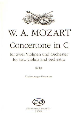 Product Cover for Concertone In C-2 Vln/pno