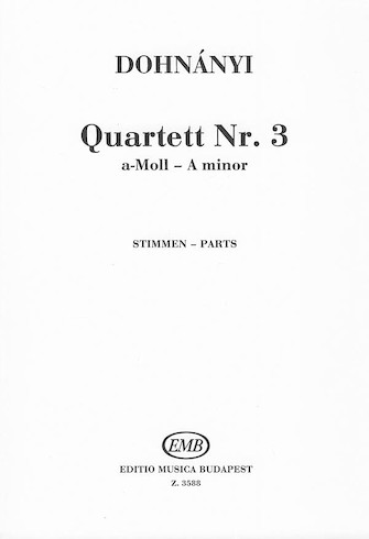 Product Cover for String Quartet #3-pts