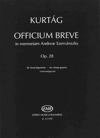 Product Cover for Officium Breve in memoriam Andreae Szervánsky, Op. 28