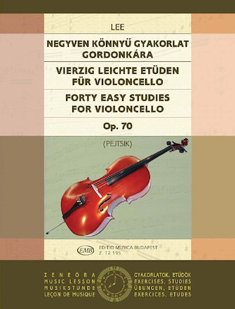 Product Cover for 40 Easy Studies for Violoncello in the First Position, Op. 70