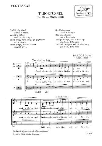 Tabortuznel : SATB : Lajos Bardos : Lajos Bardos : Sheet Music : 50511091 : 073999110913