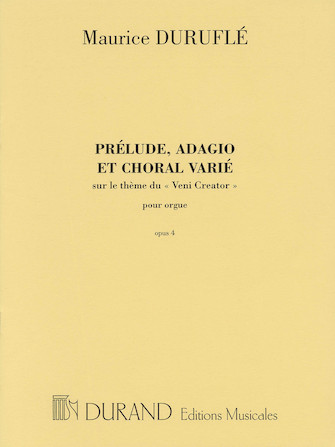 Product Cover for Prélude, Adagio and Choral Varié, Op. 4