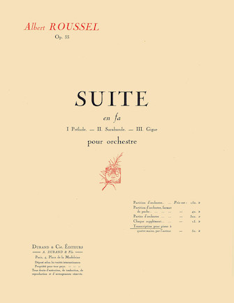 Product Cover for Suite in F, Op. 33