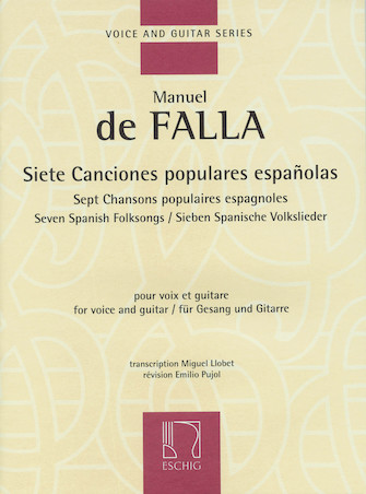 Product Cover for Siete Canciones Populares Españolas/Seven Spanish Folksongs
