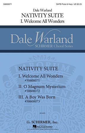 Welcome All Wonders : SATB : Dale Warland : Dale Warland : Sheet Music : 50600071 : 888680041687 : 1495008428