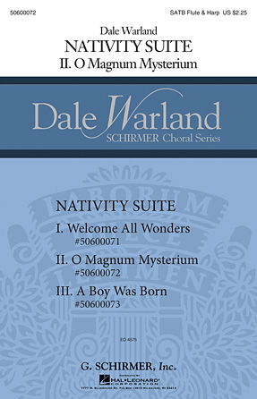 O Magnum Mysterium : SATB : Dale Warland : Dale Warland : Sheet Music : 50600072 : 888680041694 : 1495008436