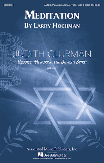 Meditation : SATB : Judith Clurman : Sheet Music : 50600234 : 888680067540 : 1495021475