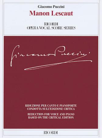 Vocal Score Manon